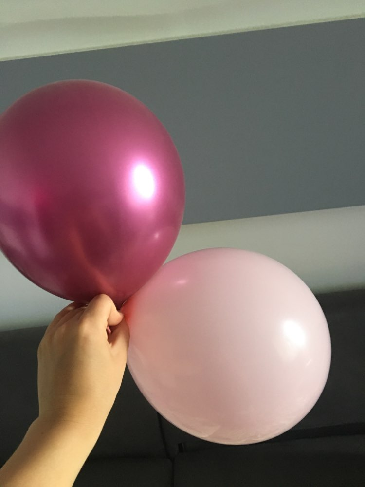 12Pcs/Lot Latex Pink/Gold/Silver/Chrome Party Balloon