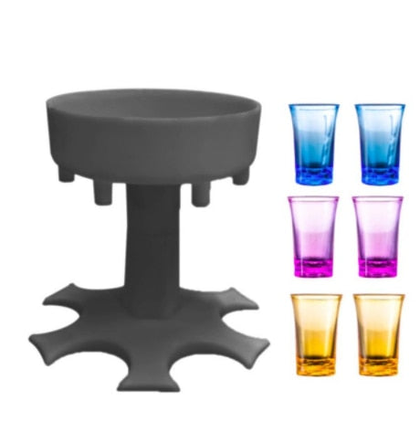 6 Shot Glass Party Drink Dispenser Holder