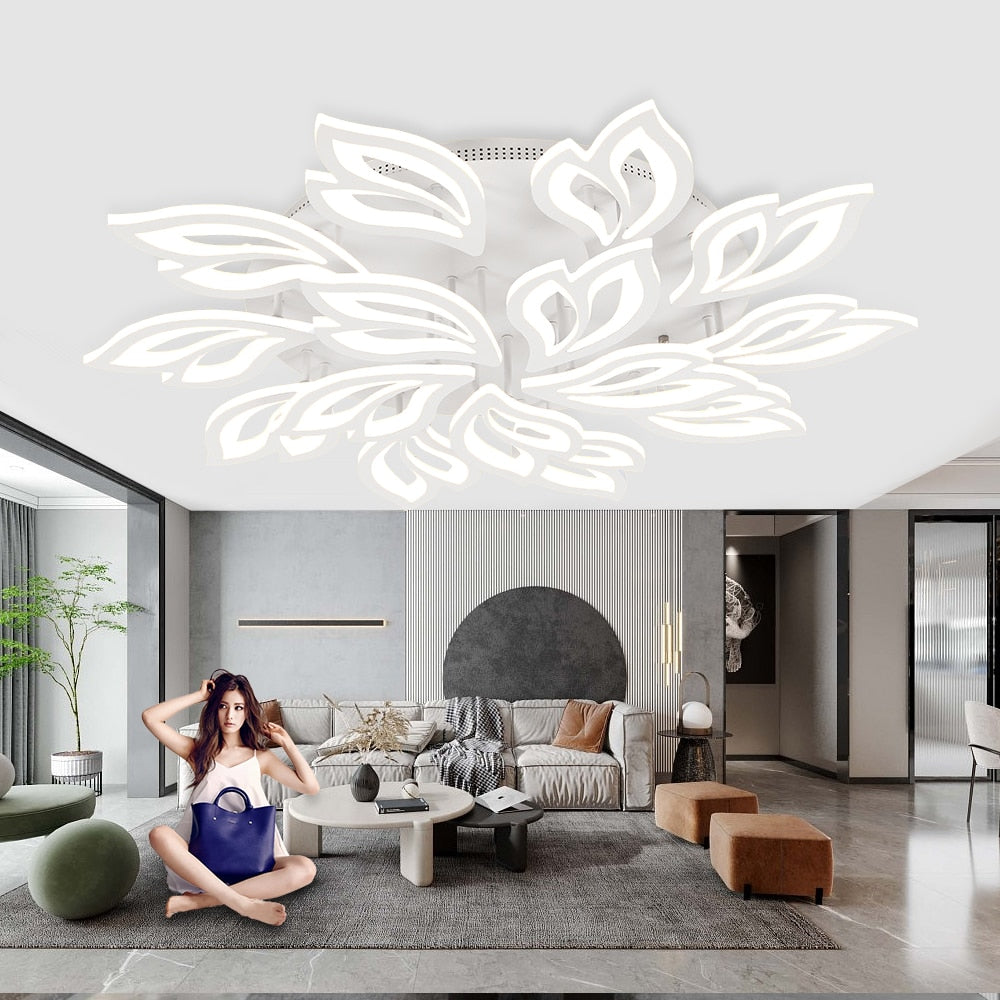Modern Petals Smart LED Ceiling Lamp For Living Room
