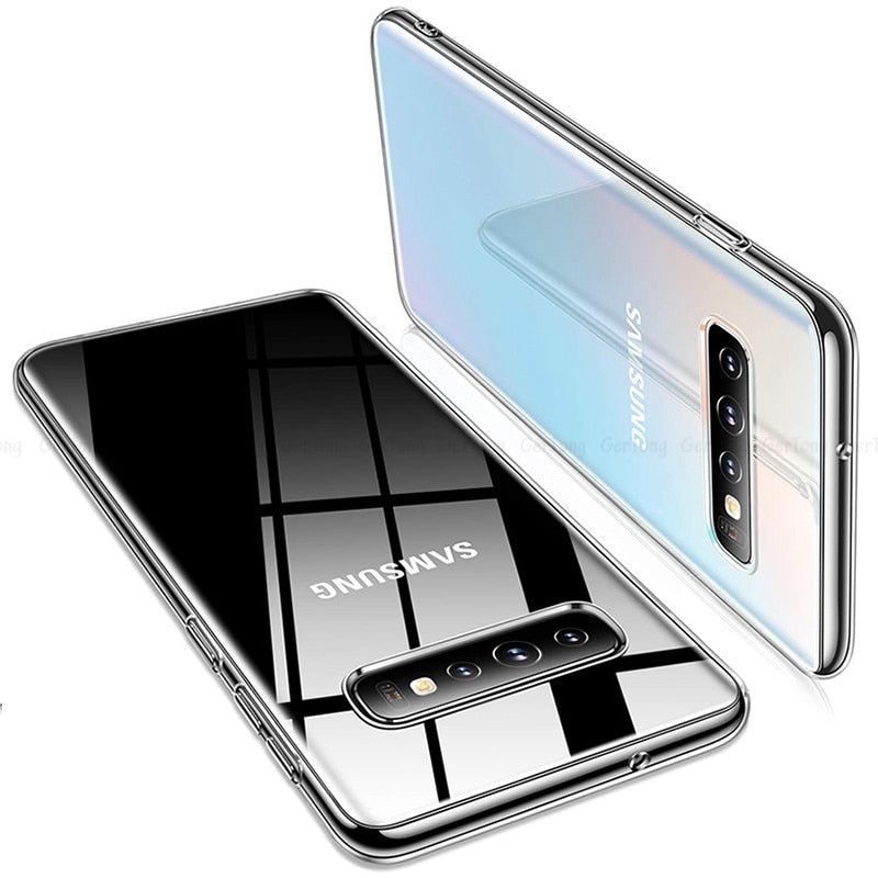 Ultra-Thin Transparent TPU Case For Samsung Smartphones