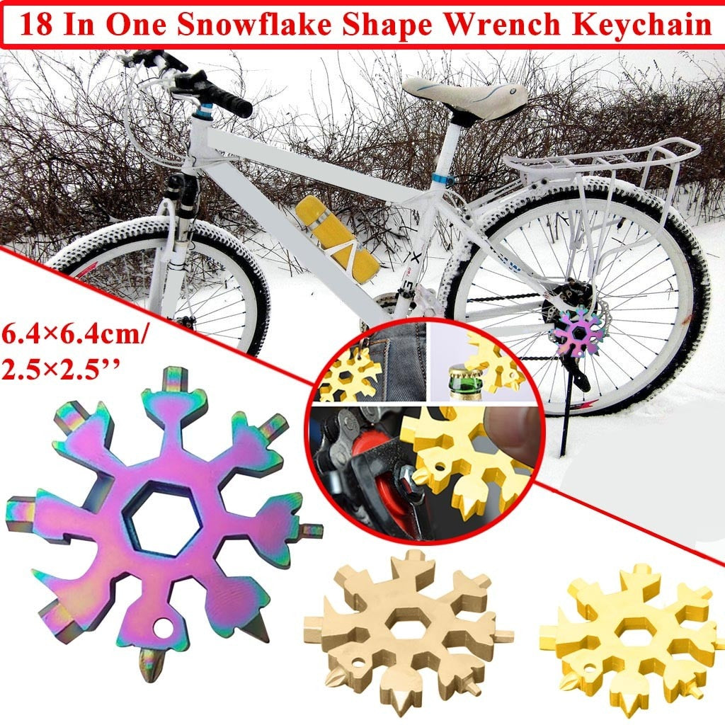Portable 18-in-1 Snowflake Multi-Tool For Wrench & Nut