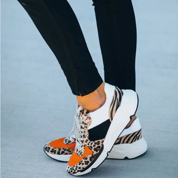 Breathable Horsehair Vulcanized Thick Platform Woman Sneakers