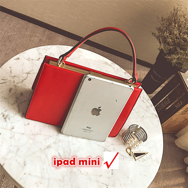 Vintage Metal Clasp Black/Red Women Handbags