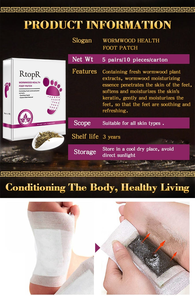 Effective Wormwood Health Detox Foot Patch