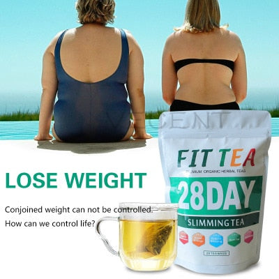 100% Pure Natural Detox 28 Days Slimming Tea Bags