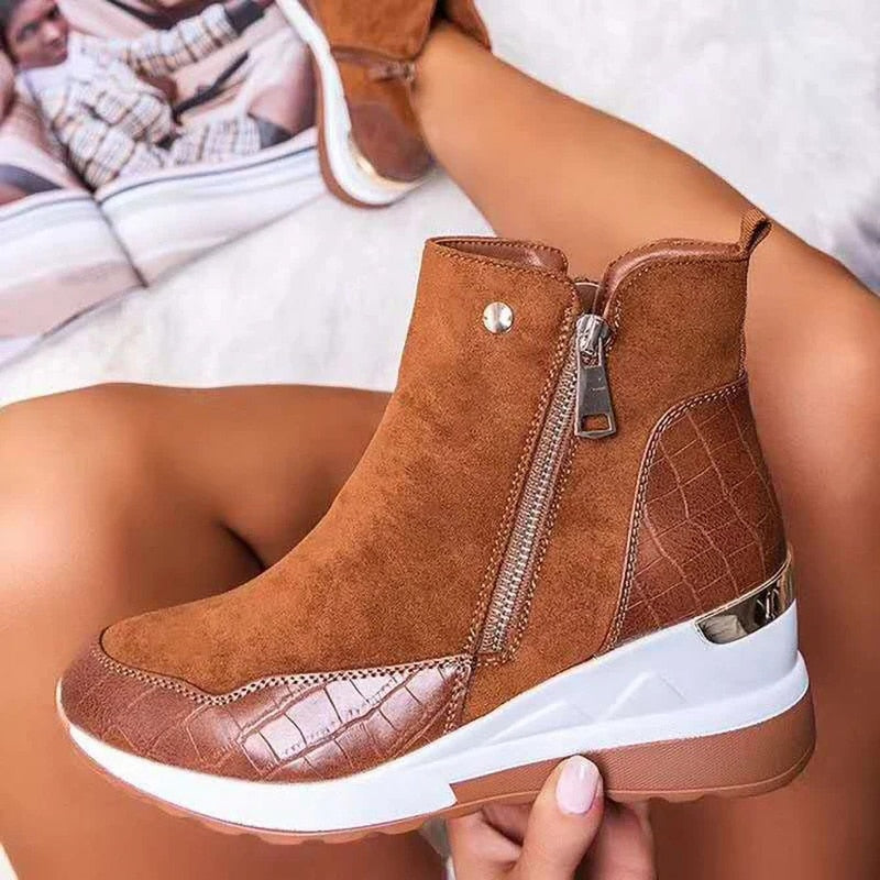 Comfortable Waterproof Winter Platform Women Shoes