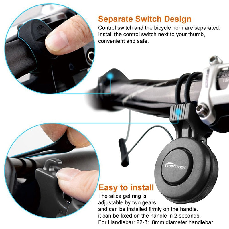 Waterproof USB Rechargeable Handlebar Electronic Bicycle Horn