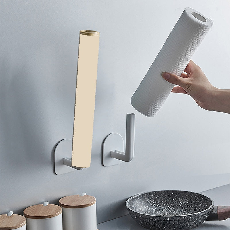Self-Adhesive Under Cabinet Kitchen Paper & Towel Holder