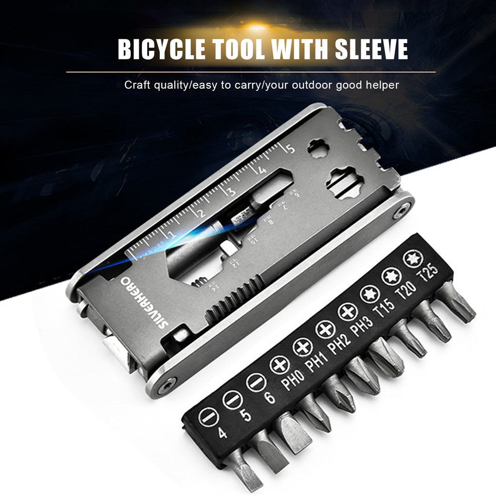 Multifunctional Folding Stainless Steel Bicycle Repair Tool