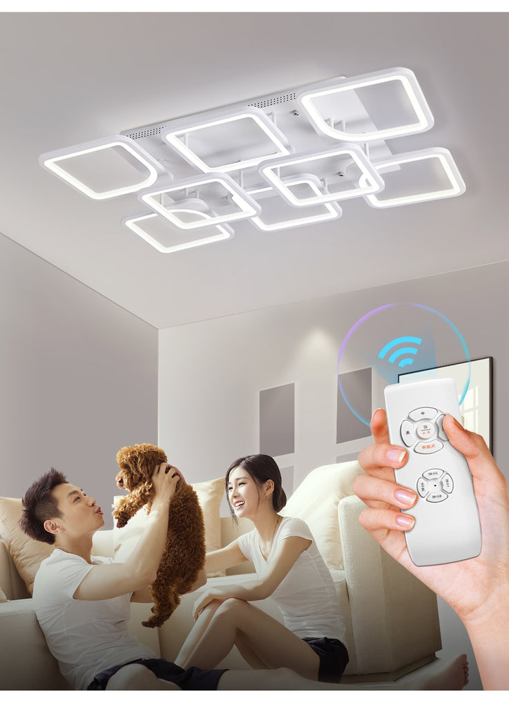 Modern Smart LED Ceiling Chandelier Lamp For Living Room