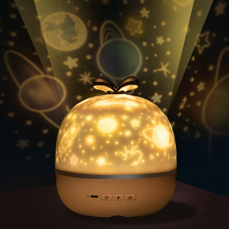 Cool Star Moon Universe Music Projector Night Light