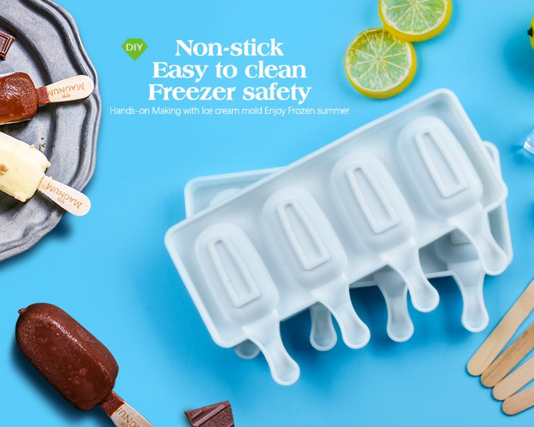 DIY Silicone Ice Cream Popsicle Molds