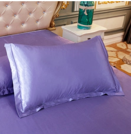 Trendy Multicolor Pure Emulation Silk Satin Pillowcase