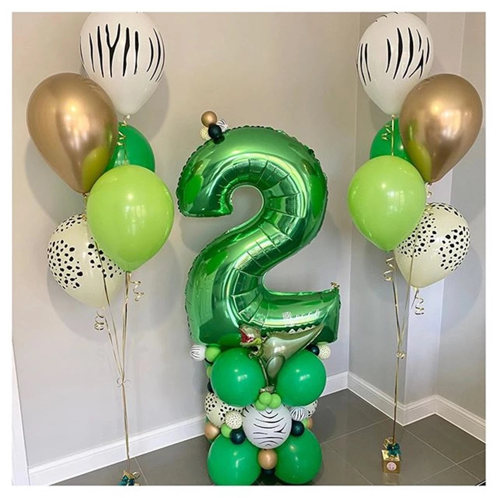 Giant Size 0-9 Digital Number Helium Foil Balloons