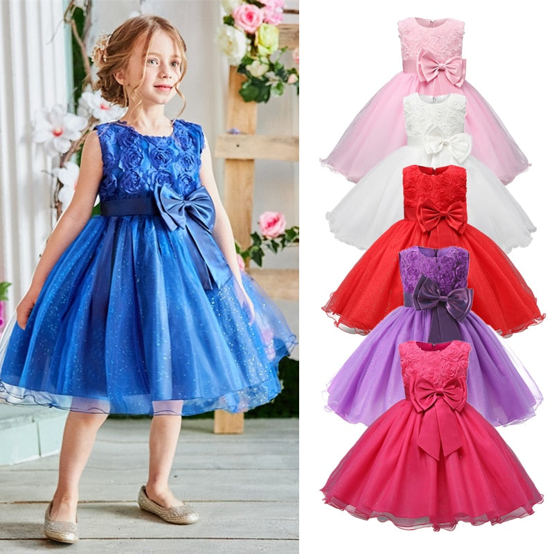Knee-Length Sleeveless Summer Girls Dress
