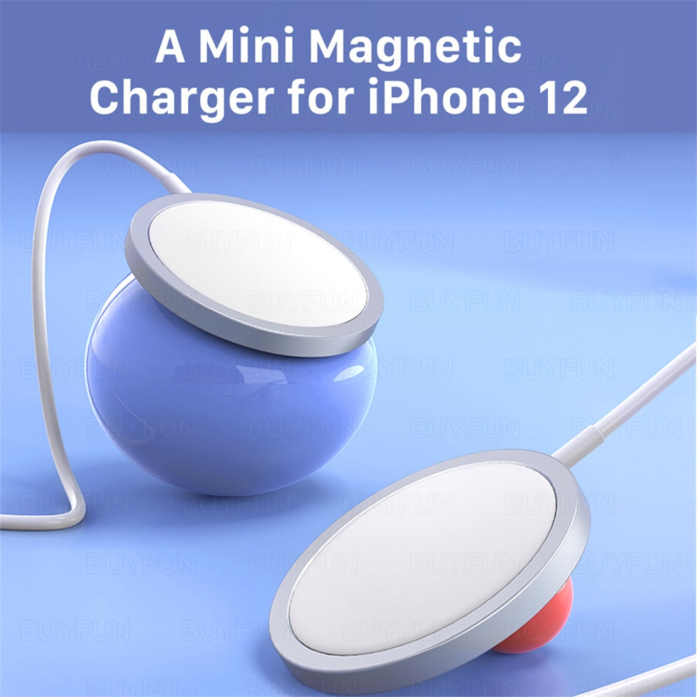 15W PD Adapter Magnetic Wireless Charger For iPhone 12 Pro Max/12Pro & iPhone 12 Mini