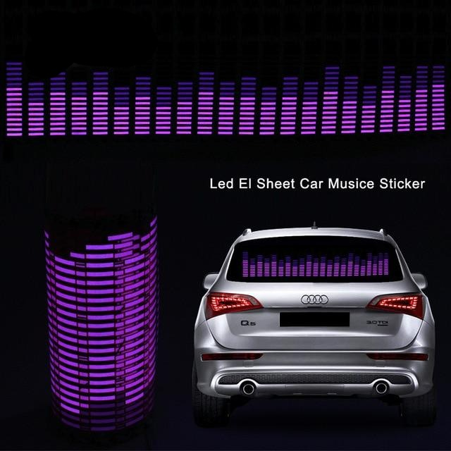 Car Windshield Sound Rhythm Activated Neon Light Kit With Control Box
