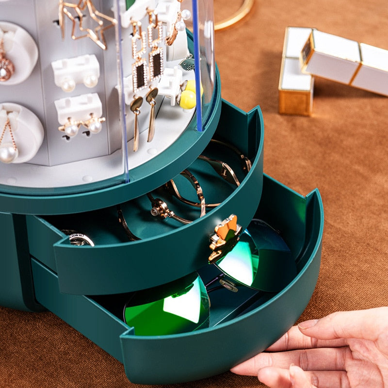 360 Rotating Makeup & Jewelry Organizer Storage Box