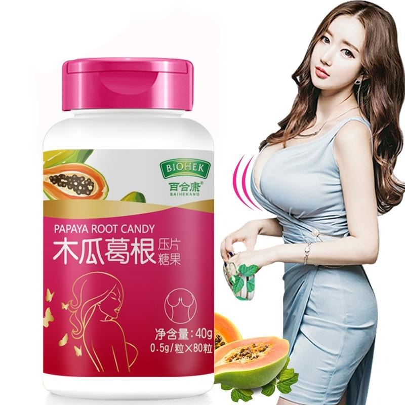 Pueraria Mirifica & Papaya Extract Chewable Tablet For Big Breast
