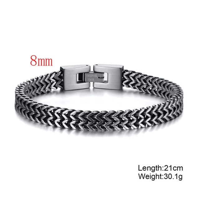 Stylish Stainless Steel Bali Foxtail Men's Chain Bracelet