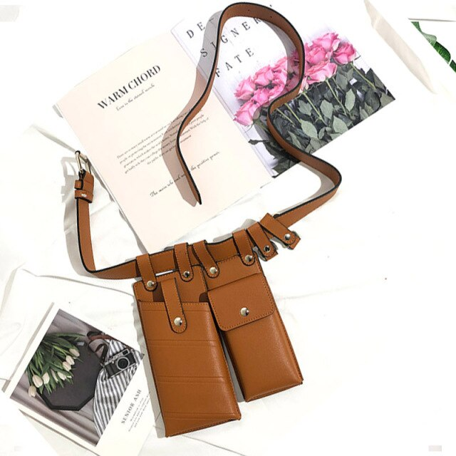 Luxury Leather Women's Waist Belt Bag