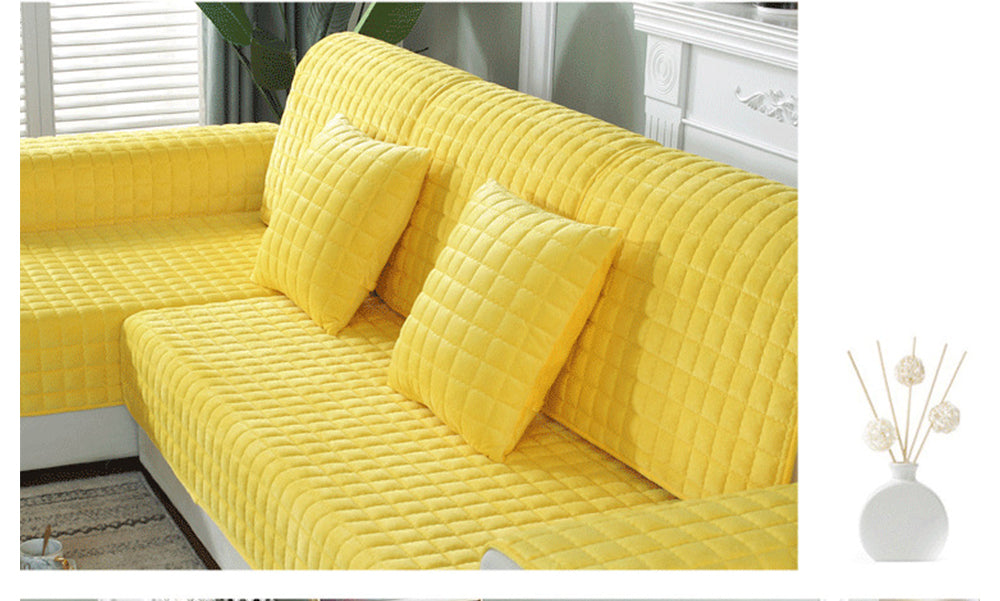 Modern Anti-Slip Thicken Velvet Fabric Seat Cover