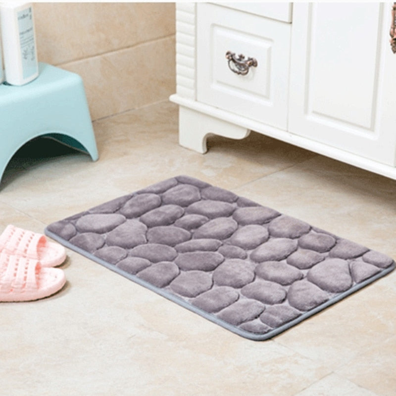 Anti Slip Water Absorption Colorful Memory Foam Bath Mat