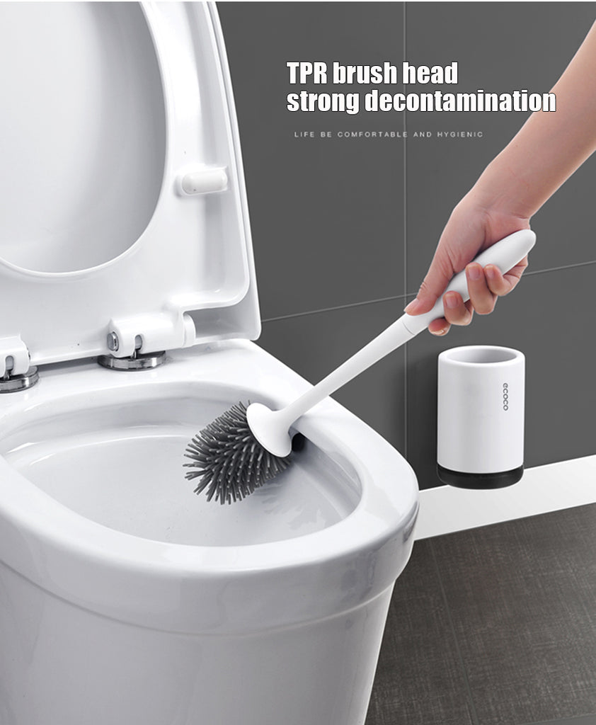 Wall-Mounted Or Floor-Standing Silicone Toilet Brush