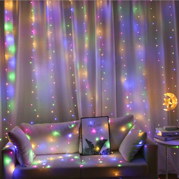 3M Curtain Garland On The Window USB String LED Lights With Remote Control