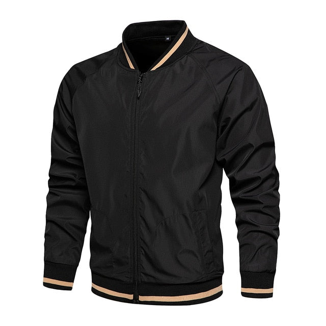 Casual Mandarin Collar Men's Bomber Jacket