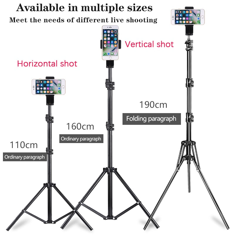 Professional Stable Shooting Metal Light Tripod For Smartphones