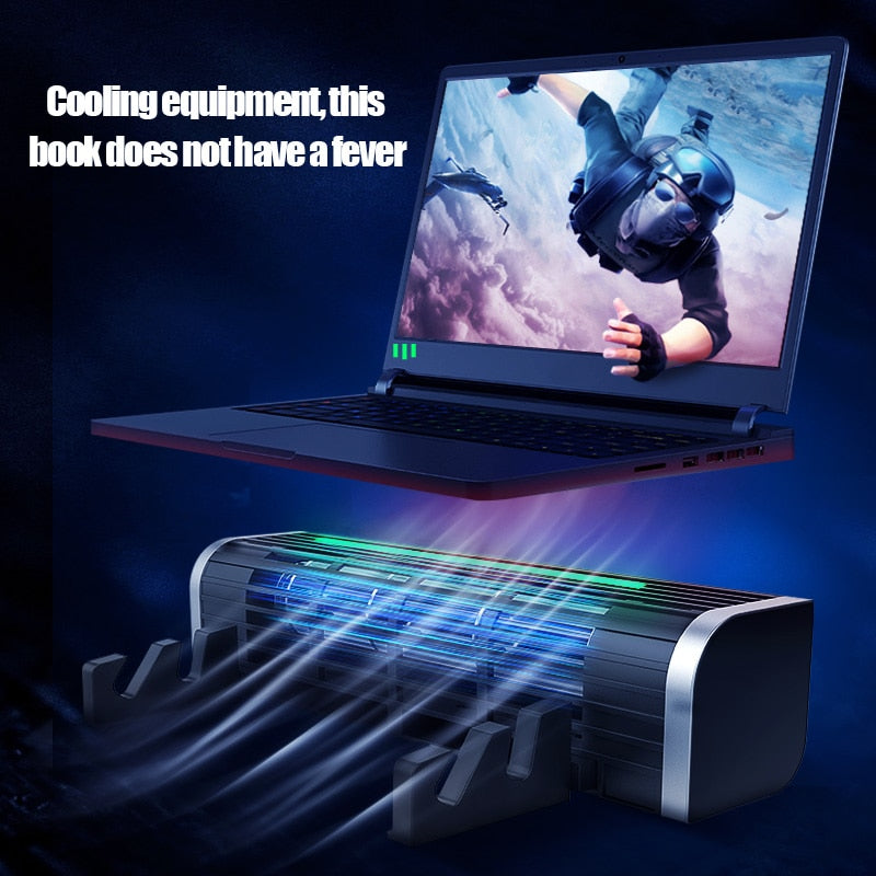 Adjustable RGB LED Silent Laptop Cooler