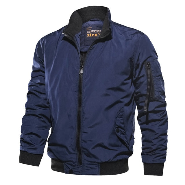 Waterproof Stand-Collar Thin Men's Jacket