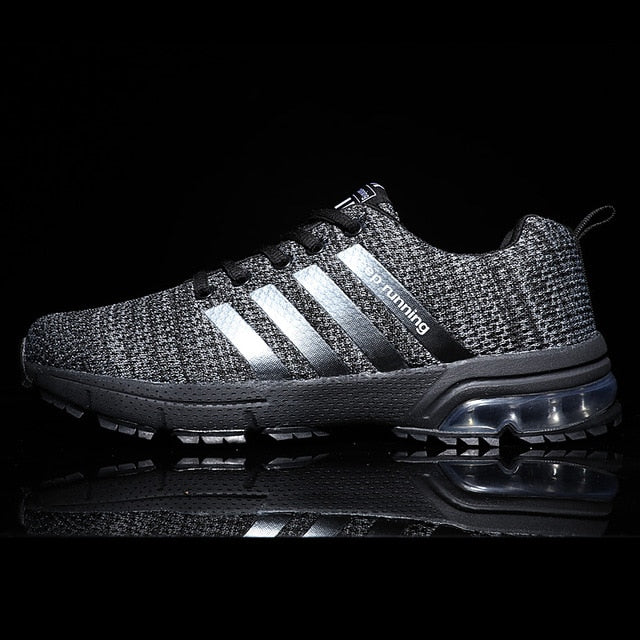 Breathable Mesh Air Men's Black Sneakers