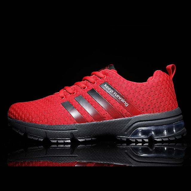Breathable Mesh Air Men's Red Sneakers