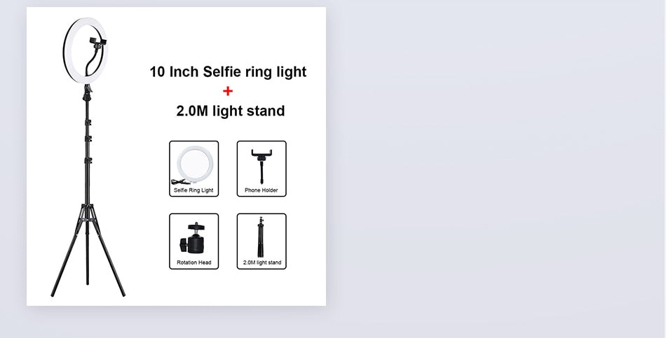 Tripod Stand Selfie Ring LED Light For Live Video Streaming