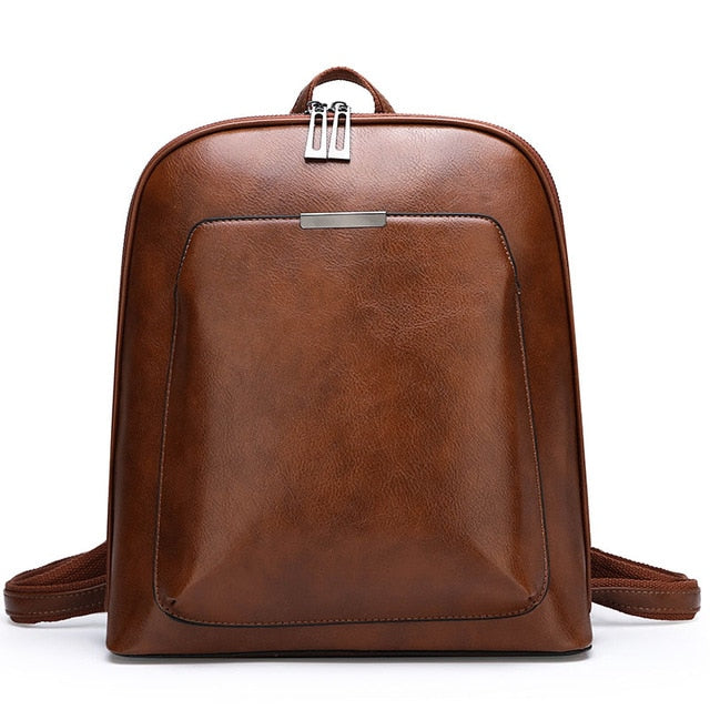 Multifunctional Leather School Backpacks For Women