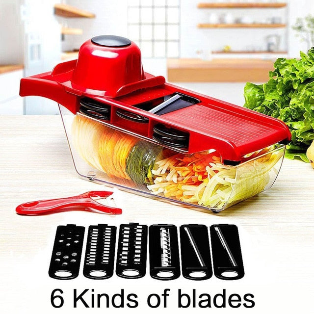 Multifunctional Fruit & Vegetable Mandoline Slicer