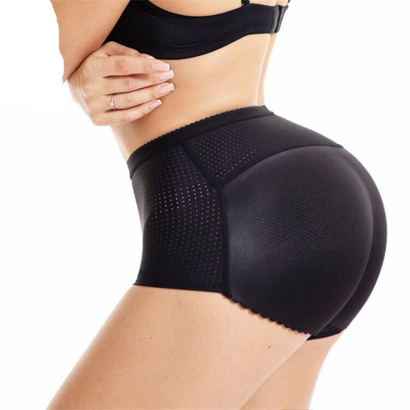 Breathable Mesh Hip Enhancer Padded Women Control Panties
