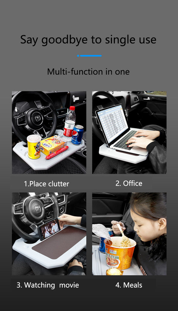 Portable Universal Laptop & Dining Steering Wheel Car Desk