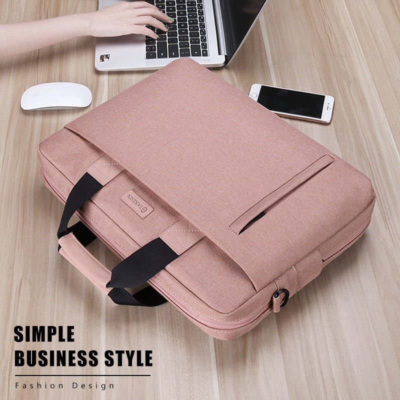 Business Style Waterproof 13.3 14 15.6 17.3 Inch Laptop Briefcase Bag
