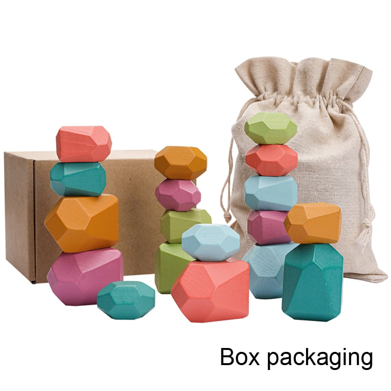 Creative Educational Colored Wooden Jenga Building Block