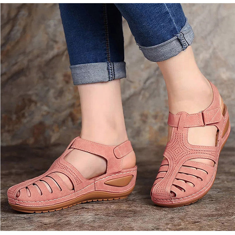 Gladiator Style Platform Hollow Wedges Sandals For Women