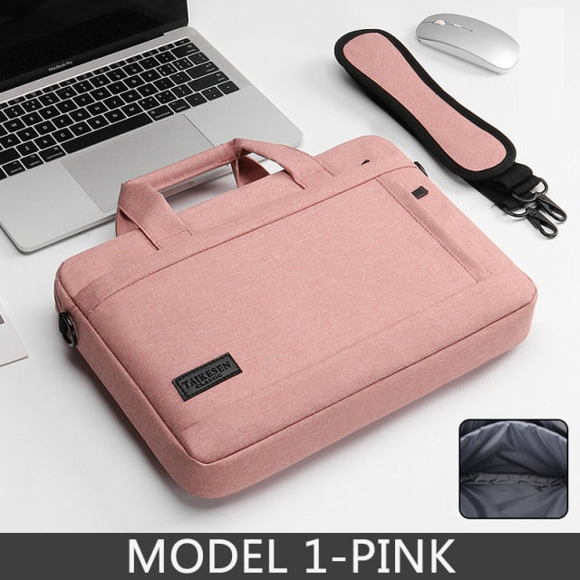 Waterproof Scockproof Laptop Protective Pink Shoulder Bag