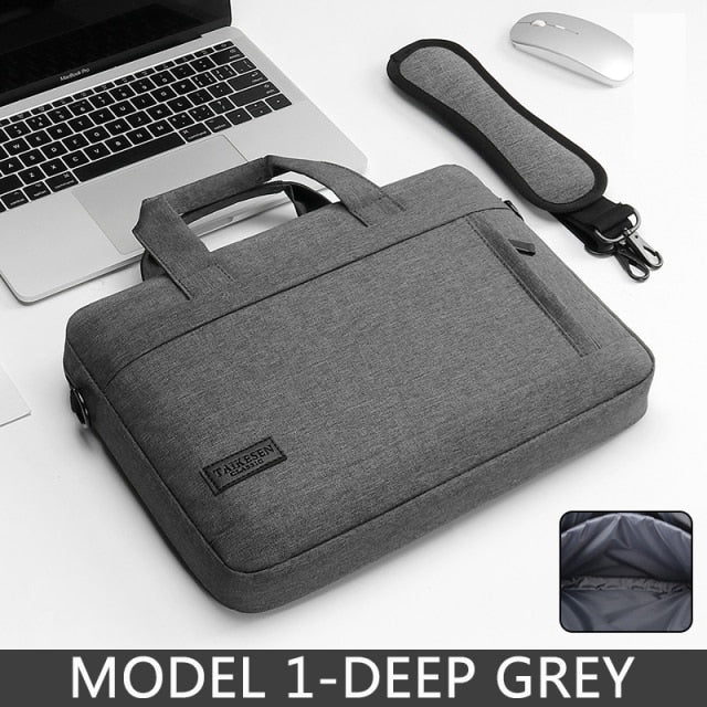 Waterproof Scockproof Laptop Protective Grey Shoulder Bag