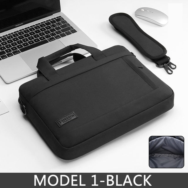 Waterproof Scockproof Laptop Protective Black Shoulder Bag