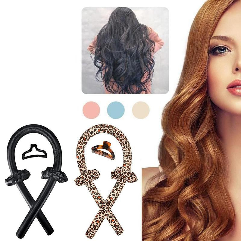 Lazy Heatless Ribbon Headband Hair Curling
