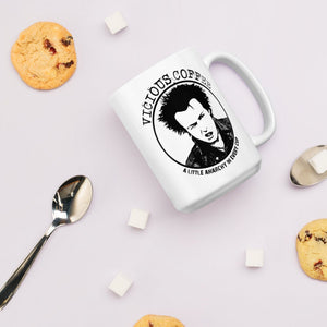 Vicious Coffee ceramic Mug - a little anarchy in every cup - funny coffee mugs - dishwasher and microwave safe