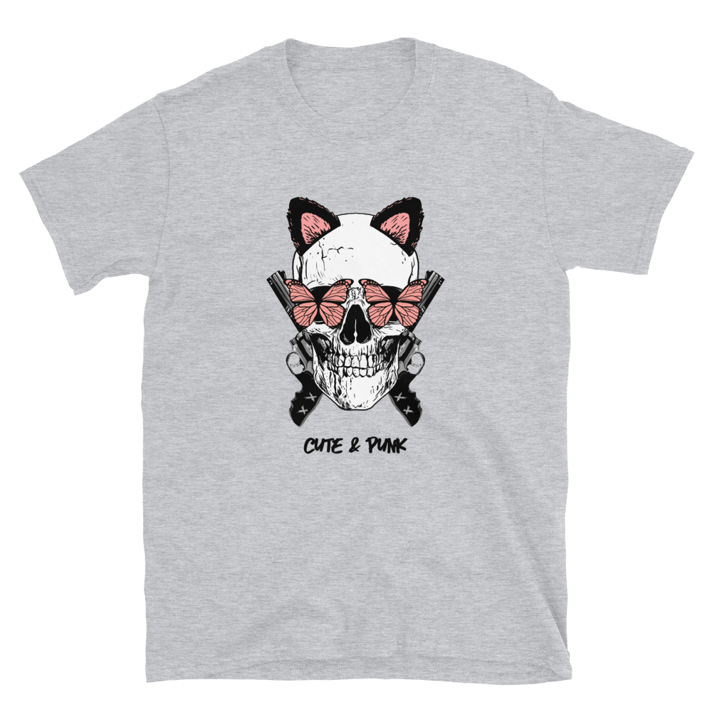 Cute And Punk Short-Sleeve Unisex Skull T-Shirt