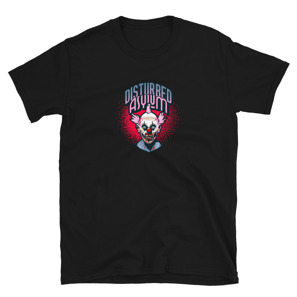 Disturbed Asylum horror clown Short-Sleeve Unisex T-Shirt